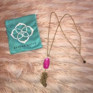 Rayna Gold long pendent Necklace! Kendra Scott